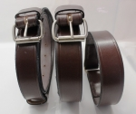 Brown strap set on case
